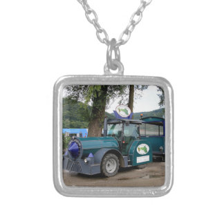 Tourist Shuttle train, Durnstein, Austria Silver Plated Necklace