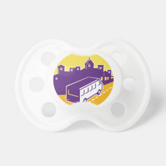 Tourist Van City Cityscape Circle Retro Dummy