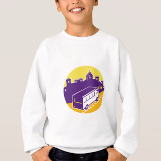 Tourist Van City Cityscape Circle Retro Sweatshirt