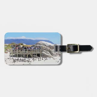 Tourists at Boulders Beach looking at penguins Luggage Tag