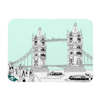 Tourists by Railing Vinyl Magnets