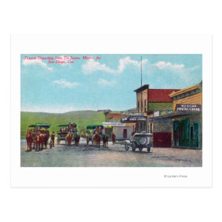 Tourists Departing for Tijuana Scene Postcard