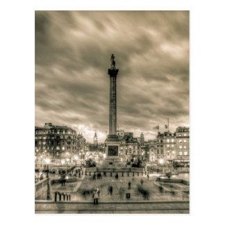 Tourists in Trafalgar Square, London Postcard