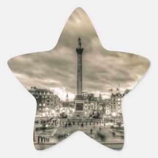 Tourists in Trafalgar Square, London Star Sticker