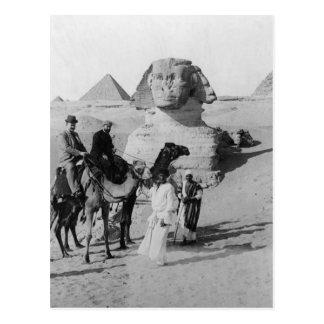 Tourists Traveling by Sphinx Postcard