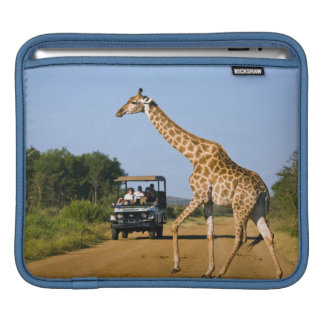 Tourists Watching Giraffe iPad Sleeves