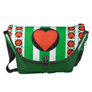 TOURNAMENT CASINO  Rickshaw LARGE Messenger Bag