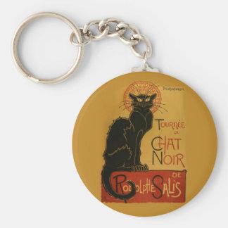 Tournee de Chat Noir Black Cat Basic Round Button Key Ring