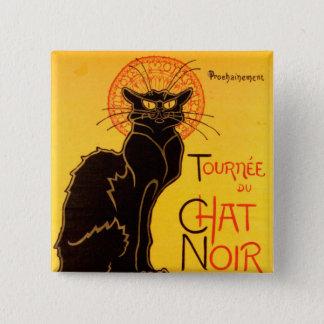 Tournée du Chat Noir - Vintage Poster 15 Cm Square Badge