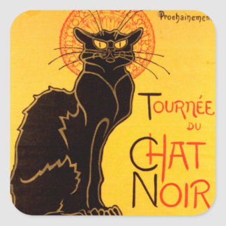 Tournée du Chat Noir - Vintage Poster Square Sticker