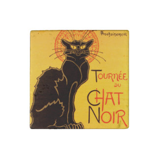 Tournée du Chat Noir - Vintage Poster Stone Magnet