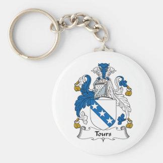 Tours Family Crest Key Ring