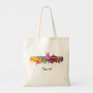 Tours skyline in watercolor tote bag
