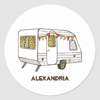 Tow Behind Caravan Camper Personalized Stickers
