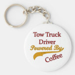 Tow Truck Driver Powered By Coffee Basic Round Button Key Ring
