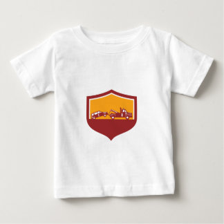 Tow Truck Towing Car Shield Retro Baby T-Shirt