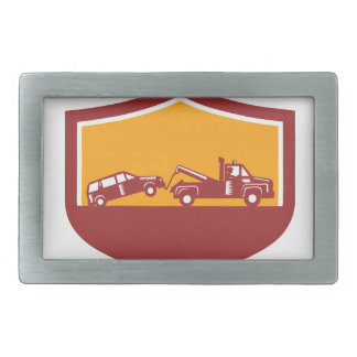 Tow Truck Towing Car Shield Retro Belt Buckles
