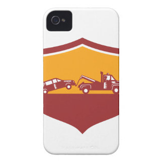 Tow Truck Towing Car Shield Retro Case-Mate iPhone 4 Cases