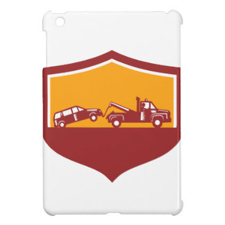Tow Truck Towing Car Shield Retro iPad Mini Covers