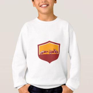 Tow Truck Towing Car Shield Retro Sweatshirt