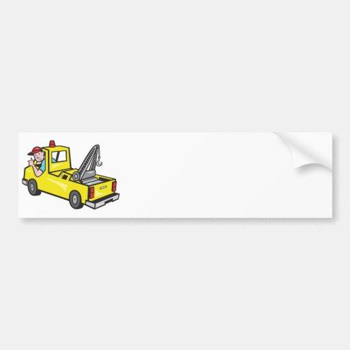 Tow Wrecker Truck Driver Thumbs Up Bumper Sticker