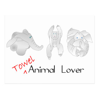 Towel Animal Lover Postcard