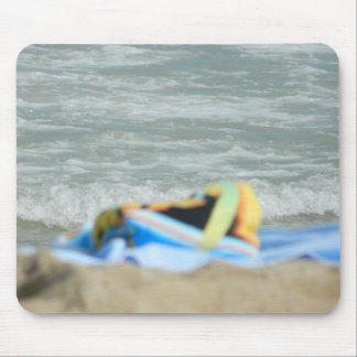 Towel on The Beach Mouse Pads