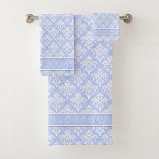 Towel Set - Wedgewood Blue Damask