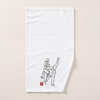 Towel with hand TAEKWONDO UNBALANCES