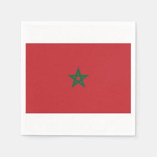 Towels Moroccan flag. Paper Serviettes