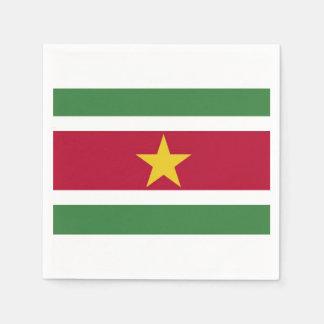 Towels Surinamese flag. Paper Napkins