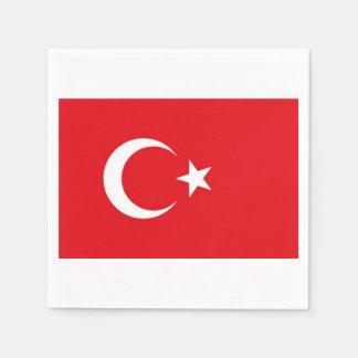Towels Turkish flag. Disposable Napkin