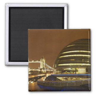 Tower Bridge, and Greater London Authority Square Magnet