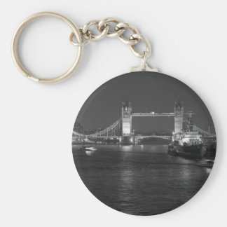 Tower Bridge and HMS Belfast Basic Round Button Key Ring
