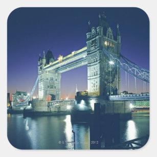 Tower Bridge at Dusk Square Sticker
