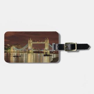 Tower Bridge at night, London Luggage Tag