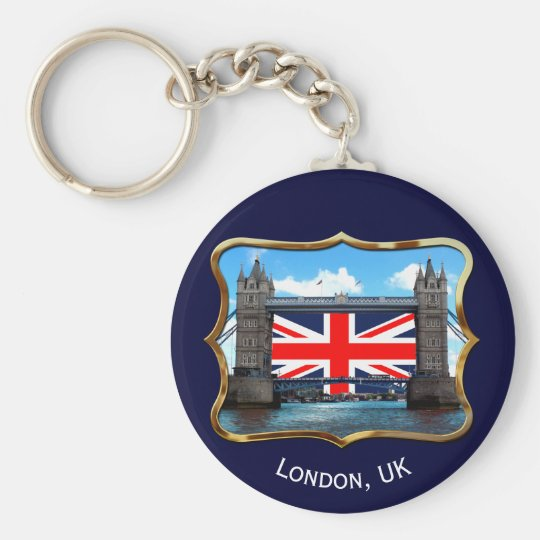 Tower Bridge Basic Round Button Key Ring