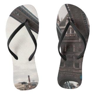 Tower Bridge featured flip-flops Thongs