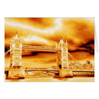 Tower Bridge in Gold Greeting Card