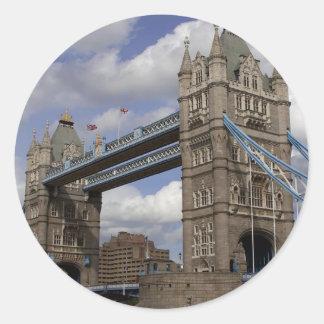 Tower Bridge In London England Classic Round Sticker