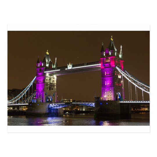 Tower Bridge in Princess pink Postcard