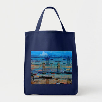 Tower Bridge London, England Art design Grocery Tote Bag