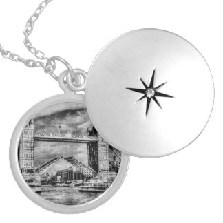 Tower Bridge London opening Silver Plated Necklace