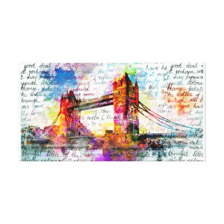 Tower Bridge, London, Sketchbook kind Canvas Print
