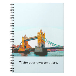 Tower Bridge, London, souvenir Spiral Notebook
