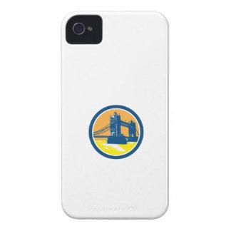 Tower Bridge London Woodcut Retro iPhone 4 Case-Mate Cases