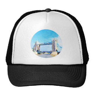 tower bridge painting hat