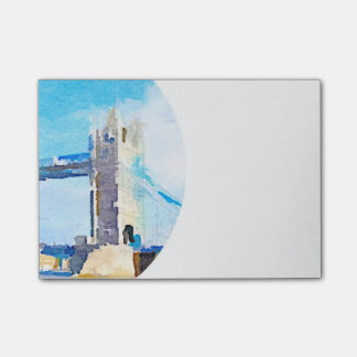 tower bridge,painting post-it notes