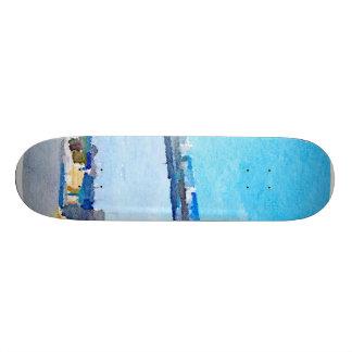 tower bridge,painting skate boards