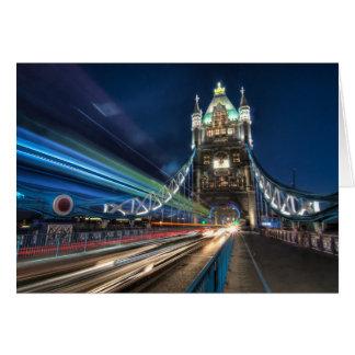 Tower Bridge traffic, London Greeting Card